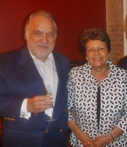 Attorney Frank DeSalvo, founding member of the Faulkner Society with Sybil Morial, author and former First Lady of New Orleans.