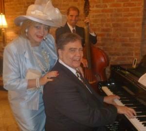 New Orleans Living columnist Margarita Bergen with popular New Orleans jazz musician Armand St. Martin.