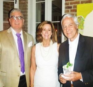 Dr. Carlos Trujillo, a Faulkner Society patron, is shown here with Helen Frammer and her husband, Raúl Fonte, Executive Director of the New Orleans Hispanic Heritage Foundation, a partner with the Faulkner Society in Pan American Connections programming during Words & Music.