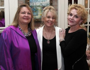 Rosemary James, center, Co-Founder, Faulkner Society is pictured here with long-time patron Marian Wallis, left, and Mary Von Kornatowski, right, Honorary Co-Chair of the Society's fall fundraiser and general public kick-off for BIG READ, 2014, Happy Birthday, Mr. Faulkner!